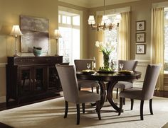 Really Like This Table Kincaid Furniture Alston Round Dining Four Upholstered Side Chairs