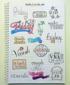 IT'S FRIDAY!!!  some inspiration for your next friday! _ un po' d'ispirazione per il vostro prossimo venerdi (english/italiano) #friday #banner #bulletjournal  #stationary #staedtler #handlettering #calligraphy #handlettered #moderncalligraphy  #midoritravelersnotebook #lettering #font #rockyourhandwriting #type #letters #filofaxgoodies #planner #planning #planneraddict #plannernerds #plannercommunity #plannersupplies #planwithmechallenge #filofax #plannerlove #bulletjournaljunkies…