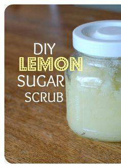 DIY Lemon Sugar Scrub--making this for my mom tonight!