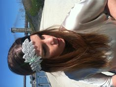 1920's Style Swarovski Crystal & Silk Headband  #The Great Gatsby #Fashion #Headband #Crystal #Coachella