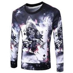 f3146cd192b4 Casual Pullover Skull 3D Printing Long Sleeve Sweatshirt For Men Cheap  Hoodies