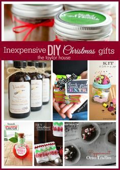 Don't let Christmas break your budget! These Inexpensive DIY Christmas Gift Ideas are perfect for the gift giver on a budget!