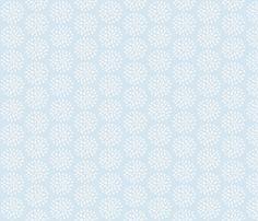 Bursting Bloom in Sea Blue-Small fabric by drapestudio on Spoonflower - custom fabric - http://www.spoonflower.com/designs/3975719
