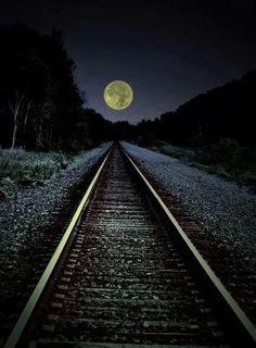 Ah, yes, moonlit Strolls along our railroad Tracks!  Mmmmmmm....