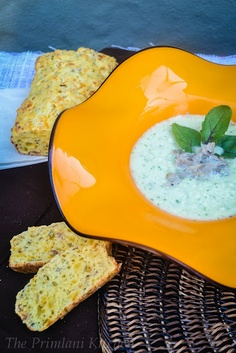White Gazpacho with Crab Salad.