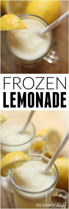 Frozen Lemonade Recipe on Six Sisters' Stuff | Best Summer Drink Recipes | Party Food