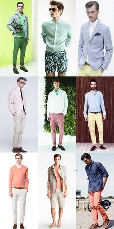 Men's Pastel Colours Spring/Summer Lookbook