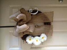 Easy DIY wreath! All from michaels!!! - how to make a bow like that and minus the flowers for me