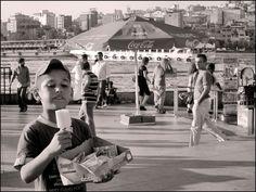 Young Boy. Galata Köprüsü - Istanbul. Galata Bridge.