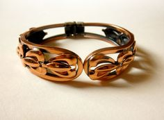 Vintage Copper Clamper Mid Century Copper Hinged by JackpotJen
