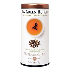 The Republic Of Tea Big Green Hojicha Full-Leaf Tea, 1.8 Ounces / 50-60 Cups >>> Want additional info? Click on the image.