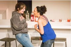 The cast of 'RubberMatch' at TBG Theatre in New York City. Photo by Anne Witman.