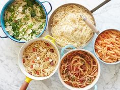 You'll never have to wait for water to boil again with these one-pot pasta recipes from Food Network. Pasta Recipes, New Recipes, Dinner Recipes, Cooking Recipes, Favorite Recipes, Dump Recipes, Cooking Cake, Cooking 101, Cooking Videos