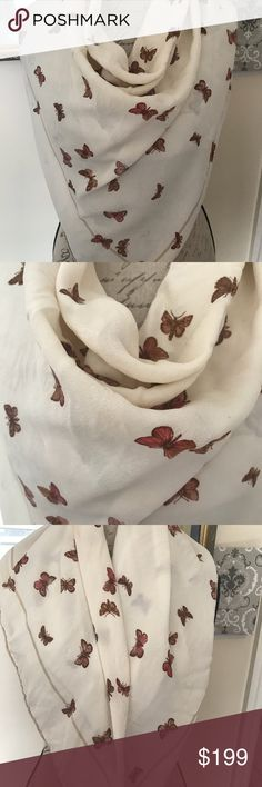 Silk scarf Christian Dior silk scarf with butterfly design Christian Dior Accessories Scarves & Wraps