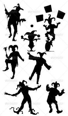 ▹ [Get Free]◜ Jester Silhouettes Court Crazy Fool Funny Jester Kid Tatuaje Harley Quinn, Jester Tattoo, Casino Tattoo, Tattoo Tradicional, Circus Characters, Middle School Libraries, Beer Label Design, Court Jester, Joker Card