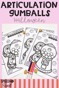 Halloween Articulation Gumball sheets are no prep and fun! Your speech therapy students will love these in October!