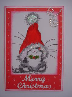 (2015) An additional Christmas card to my 2015 collection for a cat lover.