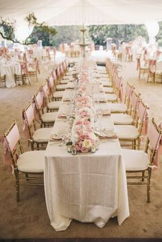 Blush pink and ivory linens