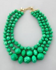 Kate Spade Give It A Swirl 3strand Necklace in Green (TURQUOISE)