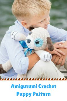 This crochet puppy would be perfect for a little boy or baby! #amigurumi #pattern #ad