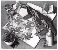 'Reptilien', lithographie von Maurits Cornelis Escher (1898-1972, Netherlands)
