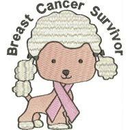 Breast Cancer Poodles 7 DESIGNS