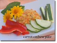 Carrot Cashew Paté...one of our fav things at the farmers mkt, gonna try to make our own :)