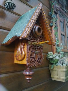 etsy.com ~ Bird house by BirdHousingMinistry from  The Netherlands €145.00