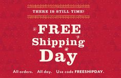 DaySpring is offering free shipping on all orders today, December 18, 2014. Just use the code FREESHIPDAY at checkout. There are many different gifts you can get and prices start as low as $2.99.