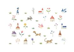 """""""Country of Dwarfs and Animals"""" −Atelier RiLi, picture book, illustration, design ___ """"小人と動物たちの国"""" −リリ, 絵本, イラスト, デザイン ...... #illustration #animal #country #イラスト #動物 #国"""