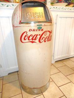 *COCA-COLA ~ vintage trash can