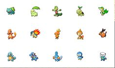 They grow up so fast :') starters pokemon (gif)