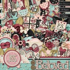 My Beloved Digital Scrapbooking Valentine Love Kit