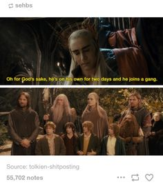 Oh Legolas, you disappointed him