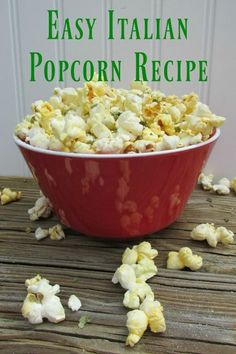 Healthy Snack Recipe: Easy Italian Popcorn /weightwatchers/ #WWFoodsAtStopAndShop…