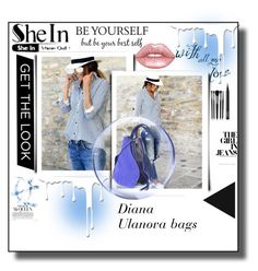 """""""Blue blouse*blue bag*"""" by nelly-melachrinos ❤ liked on Polyvore featuring Nivea, Illamasqua, NARS Cosmetics, Lime Crime and Victoria Beckham"""