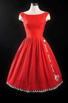 1950's MAM'SELLE Betty Carol Novelty Dress