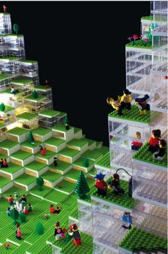 Danish architects Bjarke Ingels Group (BIG) created a LEGO model of their LEGO Towers project