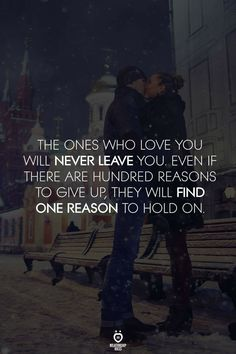 I know why the reason why I hold on.