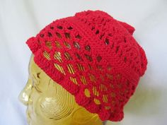 Red Riding Hood Crochet Hat Crochet Hat unisex Red Beanie Hat   ReVintageBoutique.Etsy.com