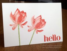 Lotus Blossom Color Combinations Card Creations by Beth
