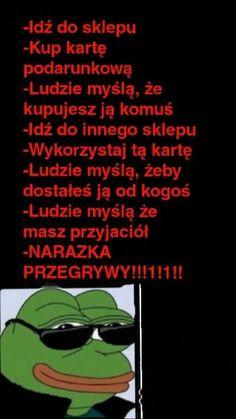 Read from the story Memy by BrakPomysluNaLogin (NiktWażny) with 956 reads. Best Memes, Funny Memes, Naruto Comic, Clexa, Haha, Wattpad, Humor, Minecraft, Fandom