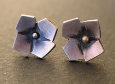 Oxidized Sterling Silver Flower Earrings | Flickr - Photo Sharing!