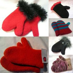 Winter Felted Mittens! Very Warm and Wind Proof!