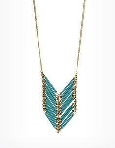Sedona Chevron Bead Necklace in Turquoise
