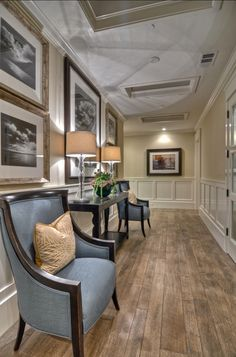 Frame Gallery Ideas. Beautiful frame gallery with large pictures. I like this look especially for long hallways.  #FrameGallery #PictureFrames #HangingPictureFrames .