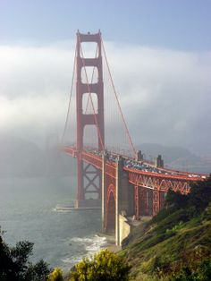 The Golden Gate Bridge in San Fransisco.