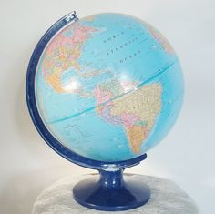 World Globe Cram Imperial by VintageCellarDoor on Etsy