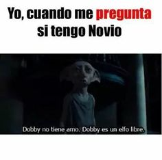 diversion, dobby, frases en español, harry potter, novios, realidad