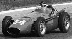 Fangio on his way to victory in the 1954 Belgian Grand Prix in one of the original Maserati 250Fs. It seems to have as many louvres as the 4CLT/48.